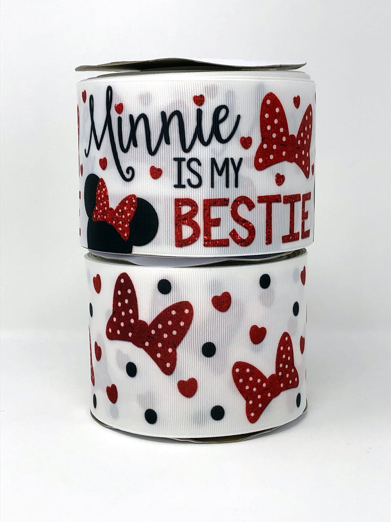 "3"" USDR Minnie is My Bestie Ribbon"