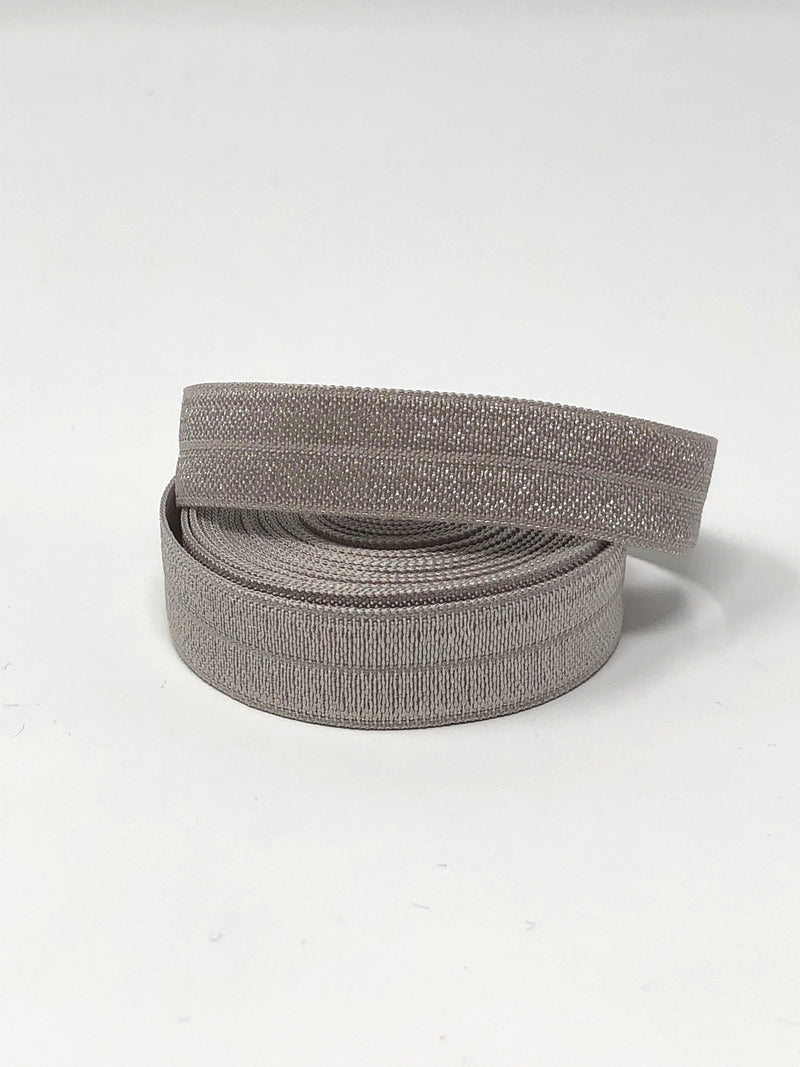 Solid Grey Fold Over Elastic