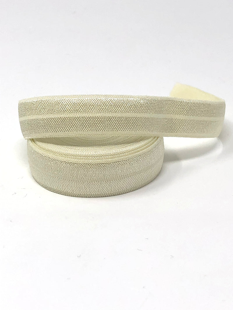 Solid Ivory Fold Over Elastic