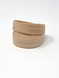 Solid Tan Fold Over Elastic