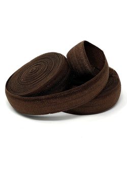 Solid Chocolate Brown Fold Over Elastic