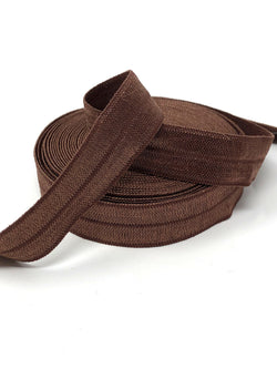 Solid Brown Fold Over Elastic