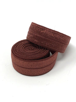 Solid Copper Brown Fold Over Elastic