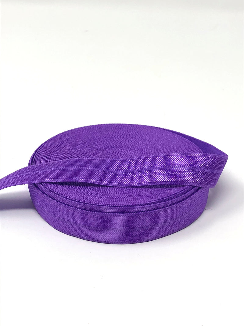 Solid Grape Fold Over Elastic