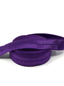 Solid Dark Purple Fold Over Elastic