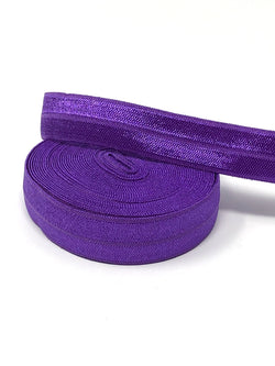 Solid Dark Grape Fold Over Elastic