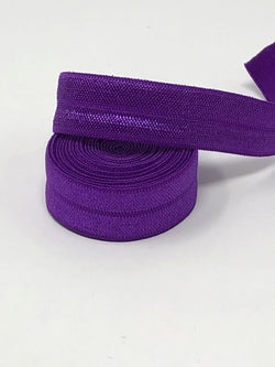 Solid Purple Fold Over Elastic
