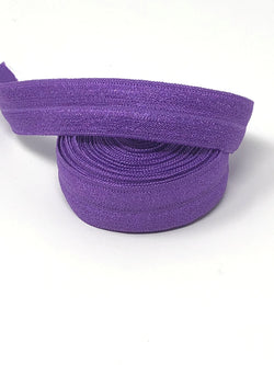 Solid Medium Purple Fold Over Elastic