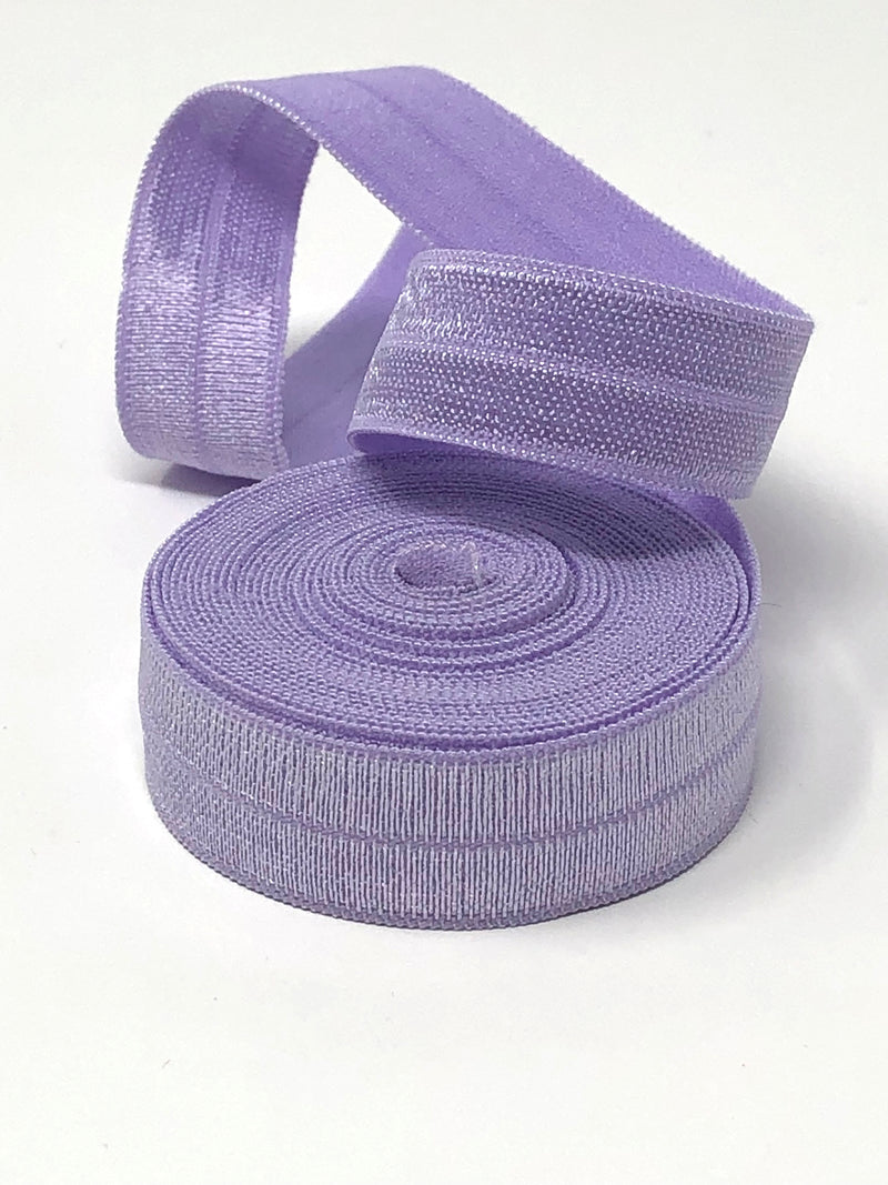 Solid Light Purple Fold Over Elastic