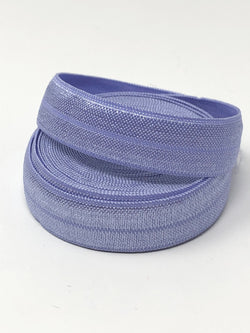 Solid Periwinkle Fold Over Elastic