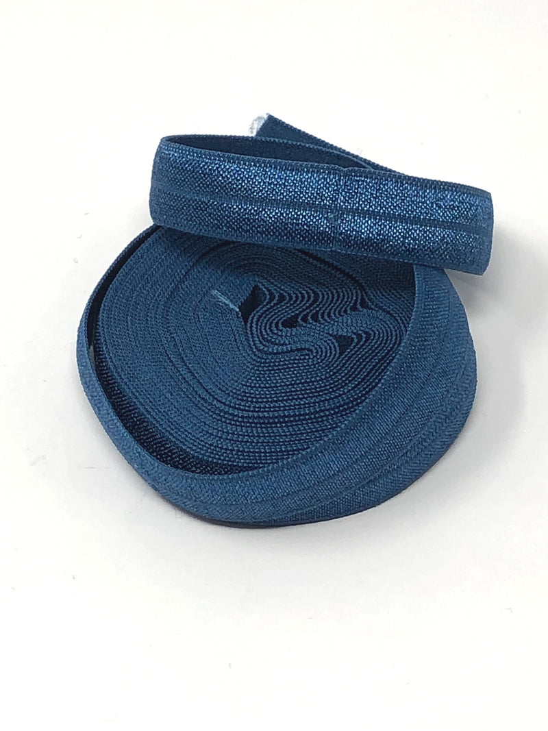Solid Light Navy Fold Over Elastic