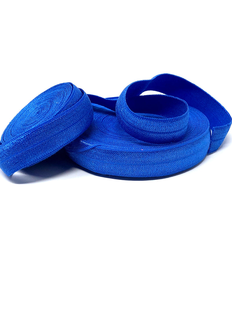 Solid Cobalt Fold Over Elastic