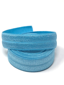 Solid Light Blue Fold Over Elastic