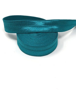 Solid Jade Fold Over Elastic