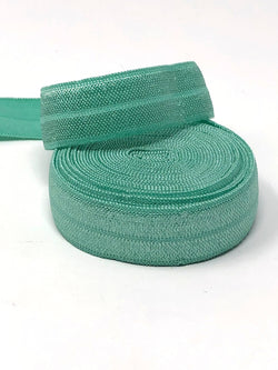 Solid Seafoam Green Fold Over Elastic