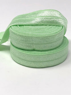 Solid Mint Fold Over Elastic