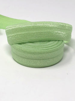 Solid Green Tea Fold Over Elastic