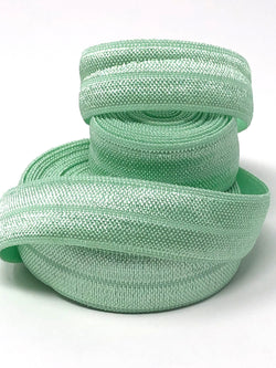 Solid Light Mint Fold Over Elastic