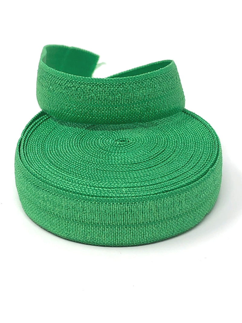 Solid Medium Green Fold Over Elastic