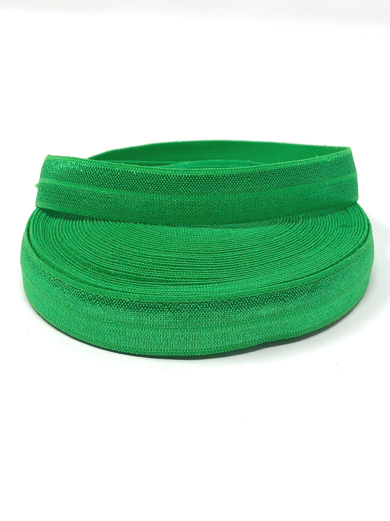 Solid Green Fold Over Elastic