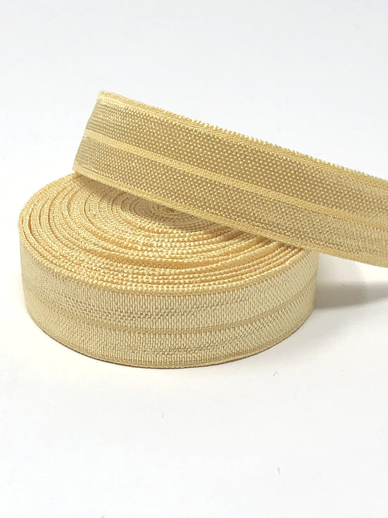 Solid Daffodil Yellow Fold Over Elastic