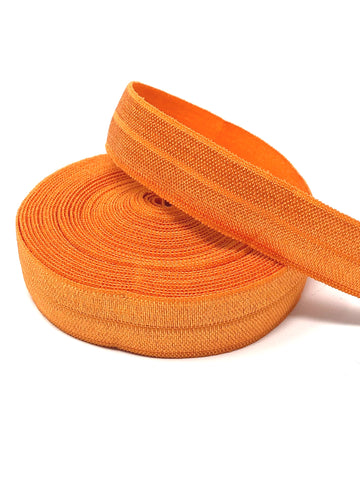 Solid Orange Fold Over Elastic