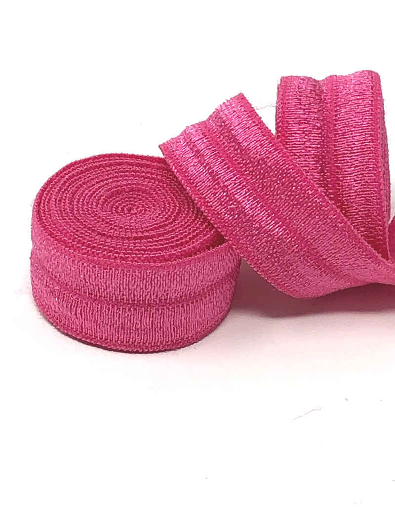 Solid Hot Pink Fold Over Elastic