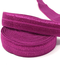 Solid Deep Magenta Fold Over Elastic