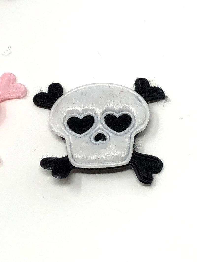 Small Furry Skull Applique