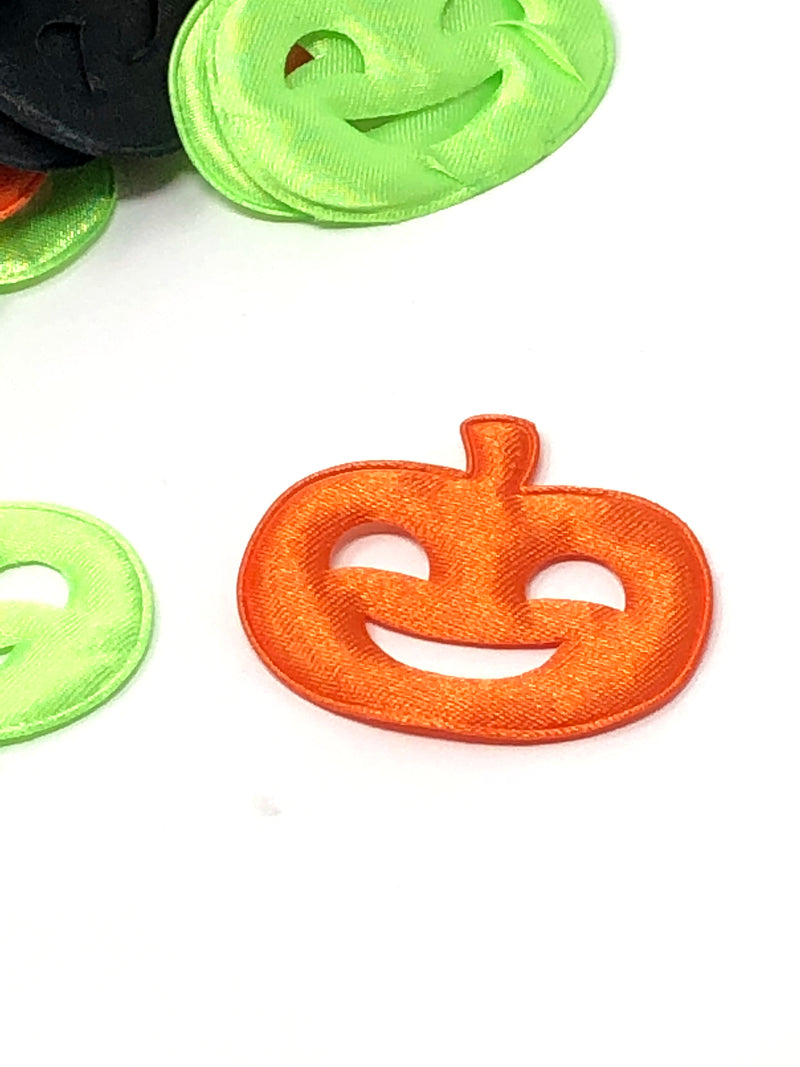 Satin Jack-o-Lantern Applique