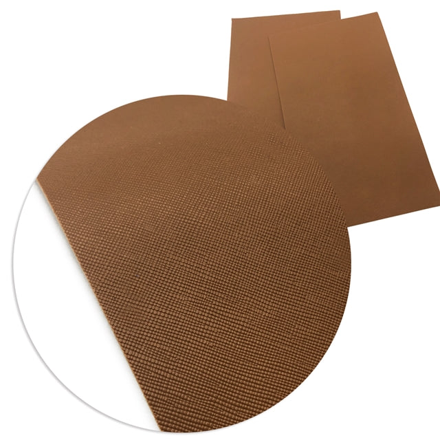 Solid Brown Faux Leather Sheet
