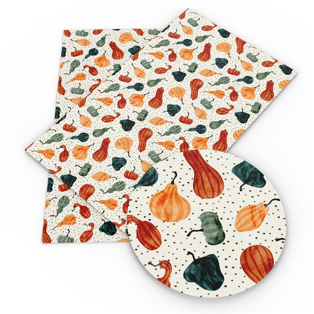 Watercolor Gourds Faux Leather Sheet