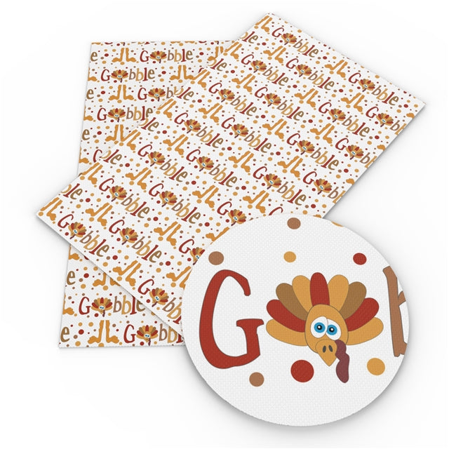 Gobble Faux Leather Sheet