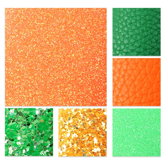 St. Patrick's Day Glitter and Litchi Sheet Pack (6 sheets)