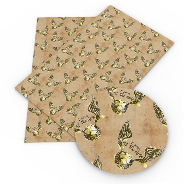 Golden Snitch Faux Leather Sheet