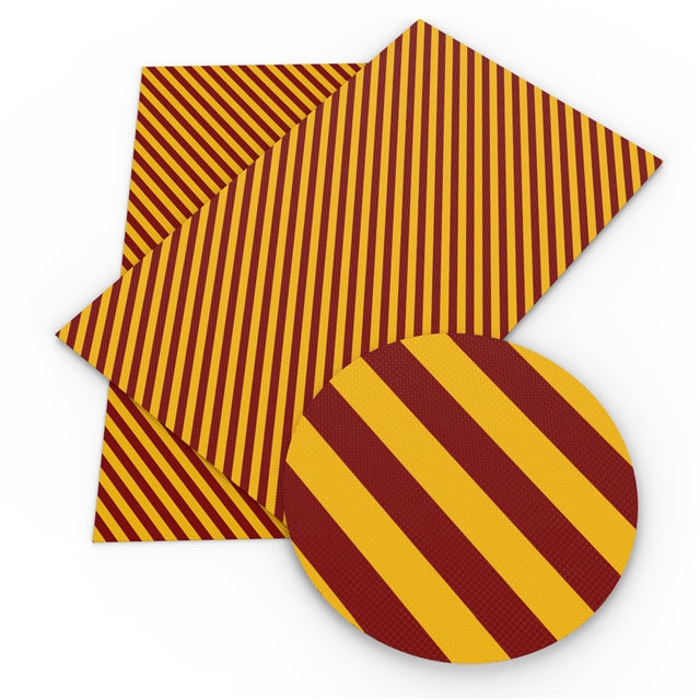 HP Red and Yellow Stripes Faux Leather Sheet