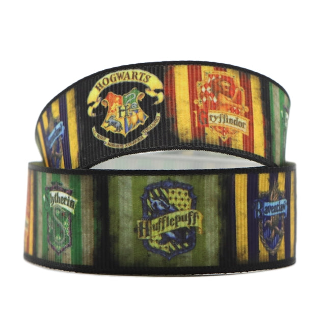 "1"" HP Crest Houses Ribbon"