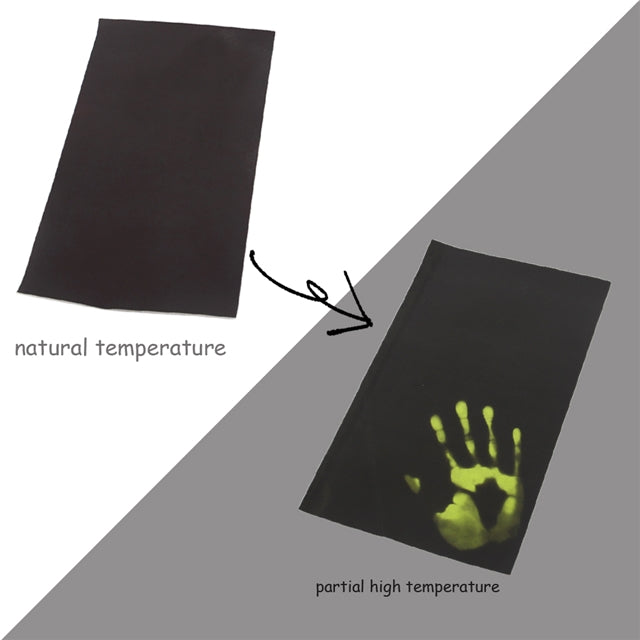 Heat Reactive Black to Green Sheet