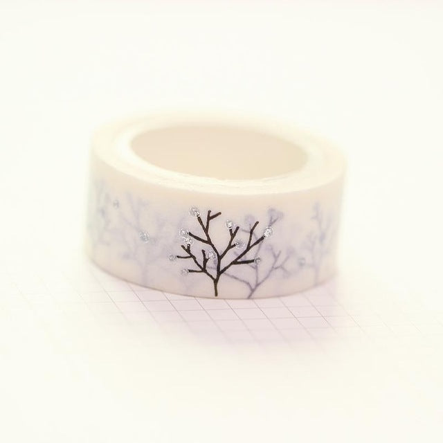 Silver Branches Washi Tape