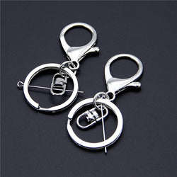Silver Keychains with Lobster Clasp (Pack of 5)