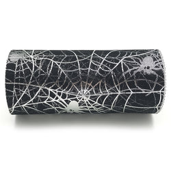 Silver Spider Web Tulle Roll