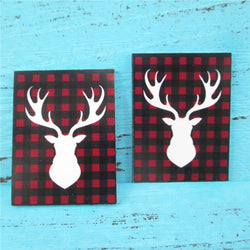 Buffalo Plaid Deer Planar Resin