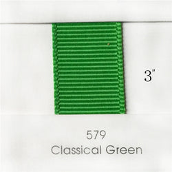 "3"" Solid Classical Green Ribbon"