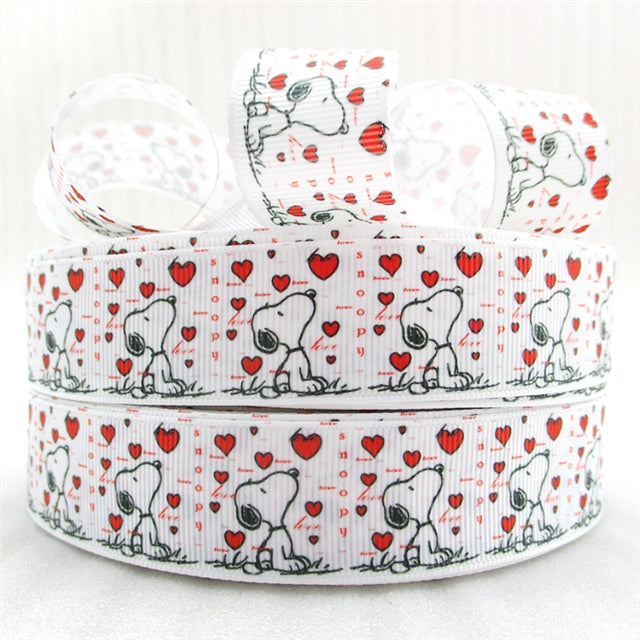 "1"" Valentine's Day Dog Ribbon"