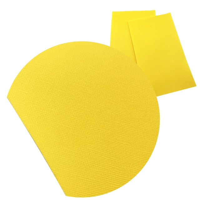 Solid Bright Yellow Faux Leather Sheet