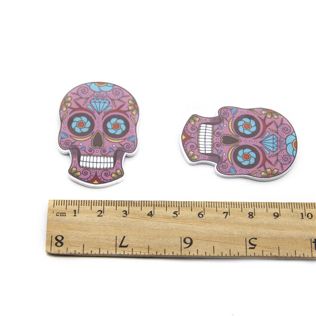 Purple Sugar Skull Planar Resin