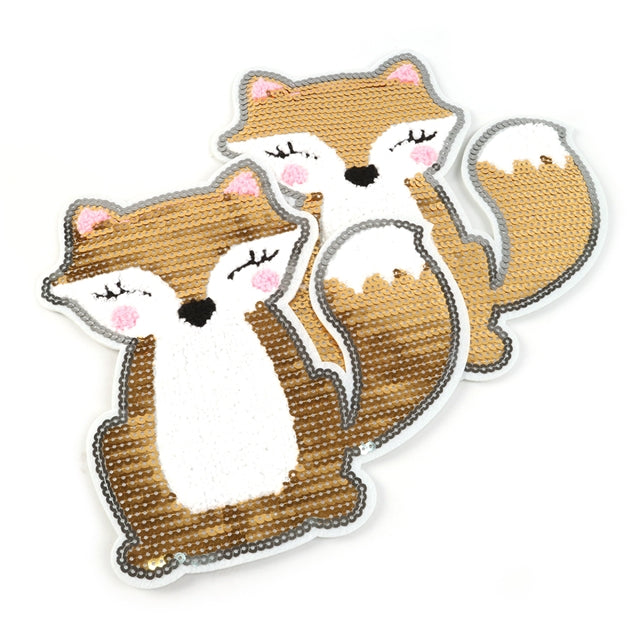 Sequin Fox Patch