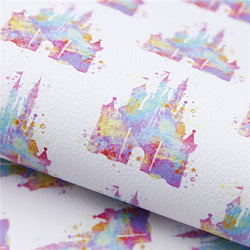 Watercolor Castle Litchi Sheet