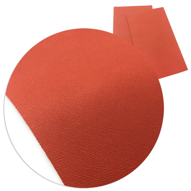 Solid Orange Faux Leather Sheet
