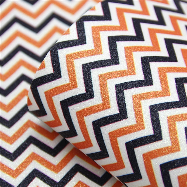 Fall Chevron Fine Glitter Sheet